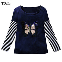 Kids Girl T Shirt Autumn Baby Girls Cotton Tops Toddler Tees Clothes Children Clothing Unicorn T-shirts Long Sleeve Casual Wear jumping meters kids girl t shirt summer baby cotton tops toddler tees clothes children clothing unicorns baby girls t shirts