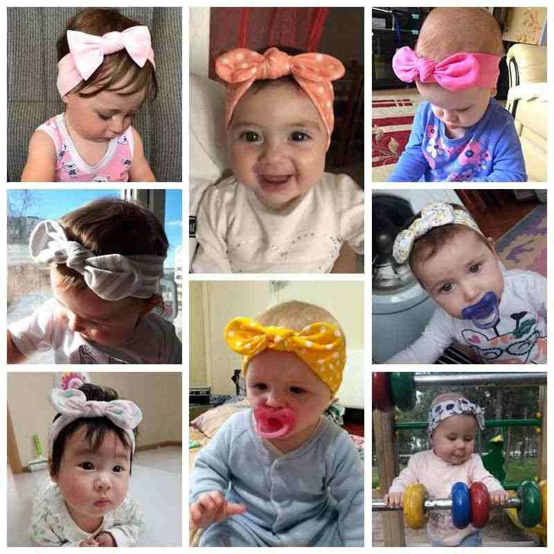 3Pcs เด็กผู้หญิง headbands เด็กวัยหัดเดิน Turban Solid Headband ผม Band เด็กผู้หญิง Bows อุปกรณ์เสริมผม Headwear Headband สำหรับสาว