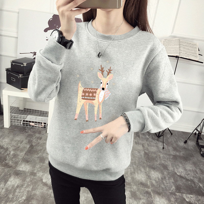 Hooded Sweater 2020 Autumn And Winter Gray Color New Korean Version Of The Loose Stitching Long Coat