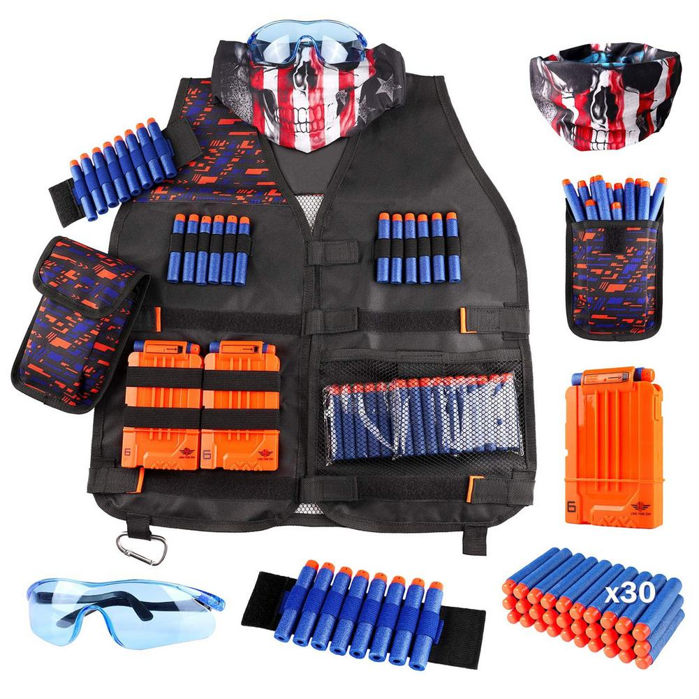 Kids Tactical Vest Kit For Nerf Outdoor Game Fashion Personalized Tactical Vest Suit Holder Game Accessories Toys