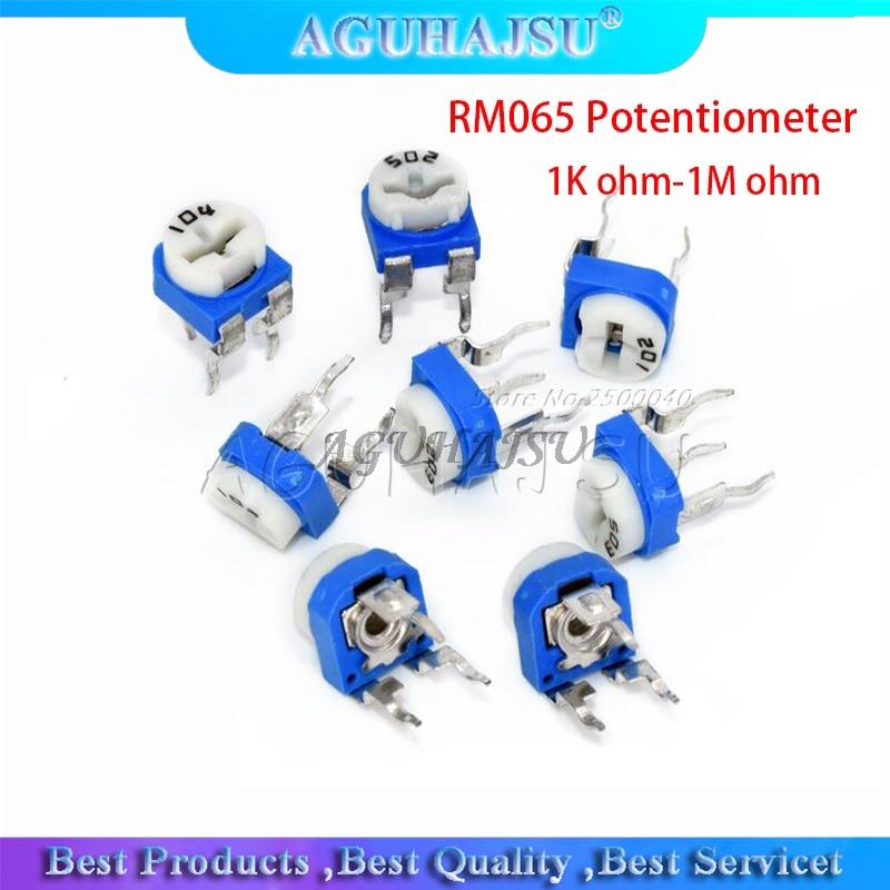 20 шт. RM065 RM-065 100 200 500 1K 2K 5K 10K 20K 50K 100K 200K 500K 1M ohm Trimpot Триммер Потенциометр переменный резистор