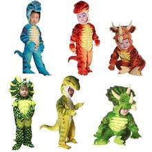 Novo triceratops traje meninos crianças pouco t rex traje cosplay dinossauro macacão halloween cosplay trajes de natal para crianças