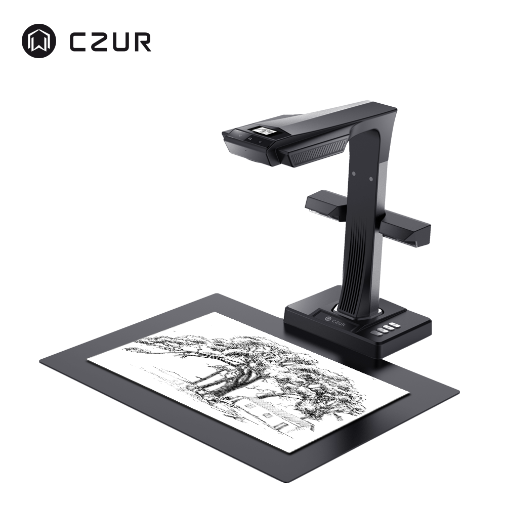 CZUR ET16 Plus Book Scanner With OCR Function 16MP HD Camera, A3 A4 Document Photo Portable High Speed Reader For PC Windows Mac