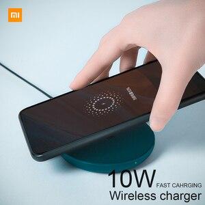 Беспроводное зарядное устройство Qi Xiaomi, умное быстрое зарядное устройство 7,5 Вт 10 Вт для Mi Mix 2S iPhone X XR XS 8 Plus Samsung S9