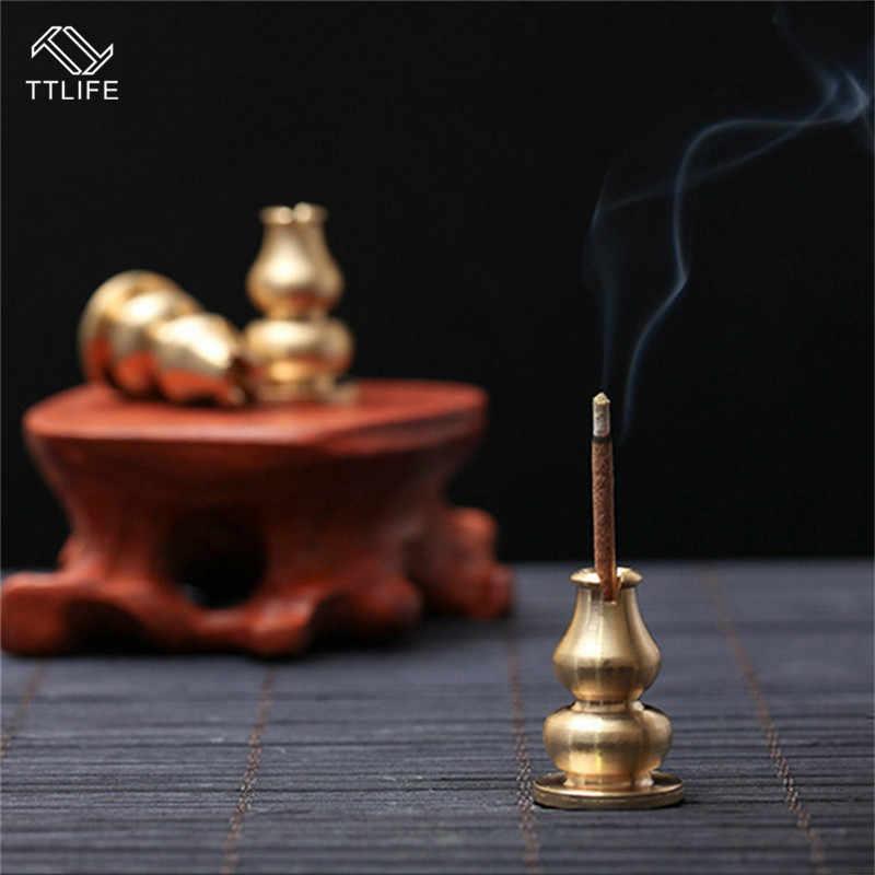Ttlife 1/3/5 pces portátil incenso queimador de incenso alta plug liga cobre incenso titular pode ser fixo incenso varas bobina