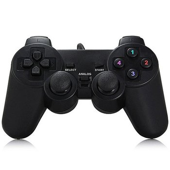 Wired Gamepad Joystick USB2.0 Shock Joypad Gamepads Game Controller For PC Laptop Computer Win7/8/10/XP/Vista gamepad controller 3 pcs wired usb joystick usb pc gamepad gaming controller game joypad for pc computer laptop gift free shipping