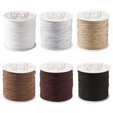 6 рулонов/комплект плетеный нейлоновый шнур для бижутерии 08