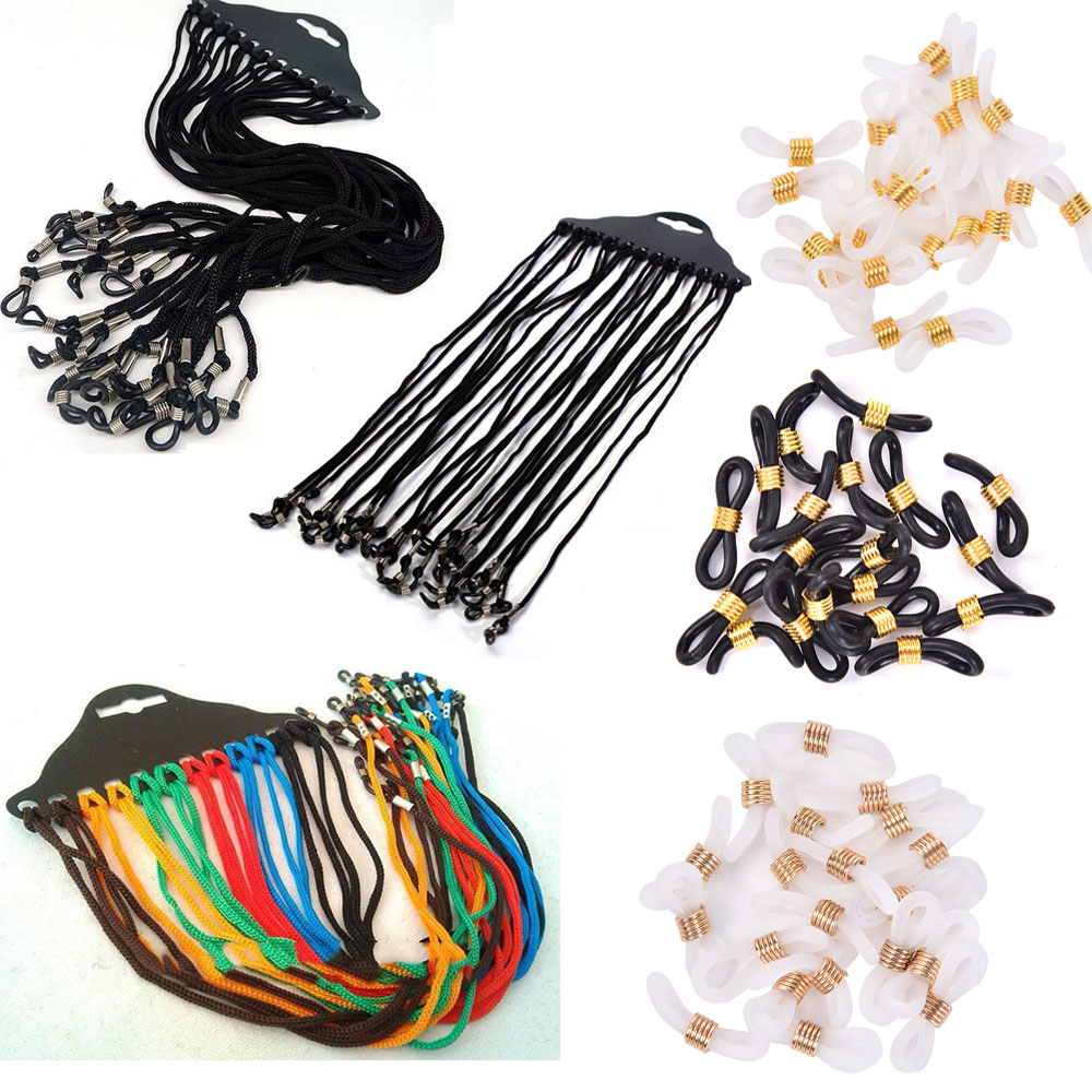 12pcs/lot Adjustable  Black Color Neck Cord Strap String Landyard Holder For Eyeglass Glasses Sunglasses