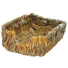 Портативная травяная кровать-ручная работа с натуральной травой обеспечивает защиту лап и расслабление безопасно и удобно для кроликов, шинчил