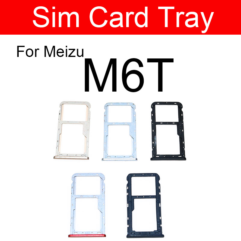 Micro Sim Card Tray Holder For <font><b>Meizu</b></font> Meilan Blue Charm <font><b>M6T</b></font> <font><b>M811h</b></font> M811q Micro SD Reader Sim Card Slot Replacement repair Parts image