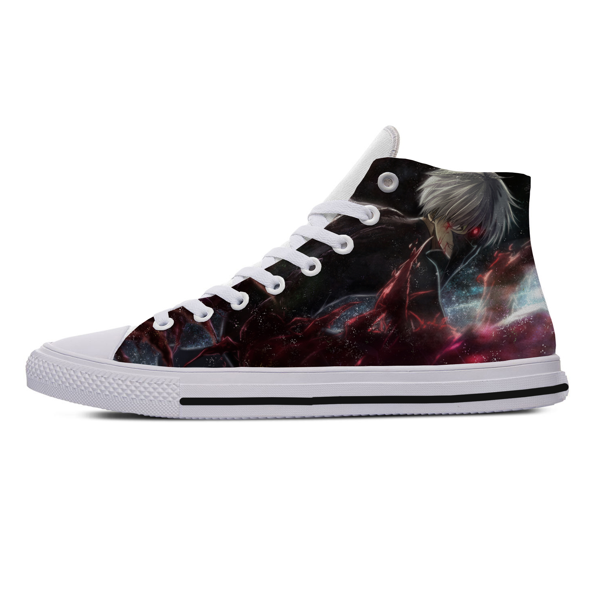 Hot!Anime Tokyo ghouls Ken Kaneki Cosplay Fans High Ankle Canvas Shoes