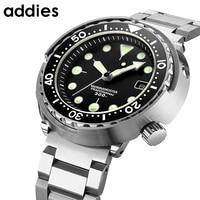 Addies Top Brand Luxury Mechanical Men Watches 300m Diver Ceramic Bezel Sapphire Glass Stainless Steel Luminous Automatic Watch
