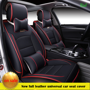 (Front and Rear) luxury Leather Covers For Hyundai solaris ix35 i30 ix25 Elantra accent tucson Business seat cover