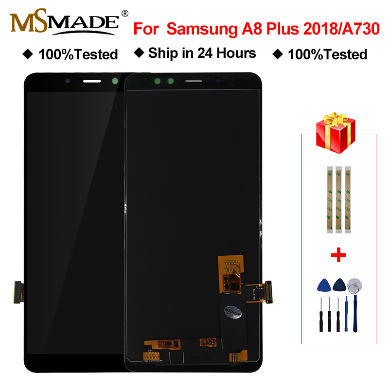 A730 <font><b>LCD</b></font> For <font><b>Samsung</b></font> <font><b>Galaxy</b></font> <font><b>A8</b></font> Plus 2018 <font><b>LCD</b></font> <font><b>Display</b></font> <font><b>Touch</b></font> <font><b>Screen</b></font> Digitizer Replacement Parts For A730F SM-A730 <font><b>Display</b></font> image