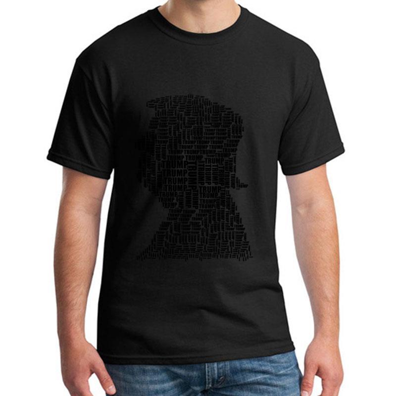 Custom Donald Trump t shirt for men and women Short Sleeve Anti-Wrinkle Leisure mens tshirts black Pattern