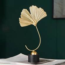 Fan Vormige Ginkgo Leaf Photo Prop Nordic Minimalistische Sculptuur Ornament Office Home Decoratie Beeldjes Standbeeld