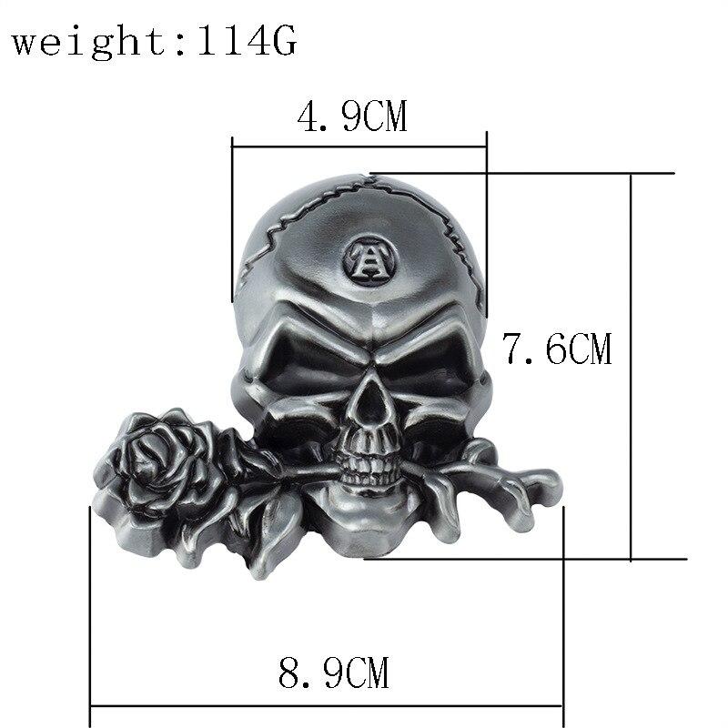 Skull skeleton belt buckle Belt DIY accessories Western cowboy style Smooth belt buckle Punk rock style k26