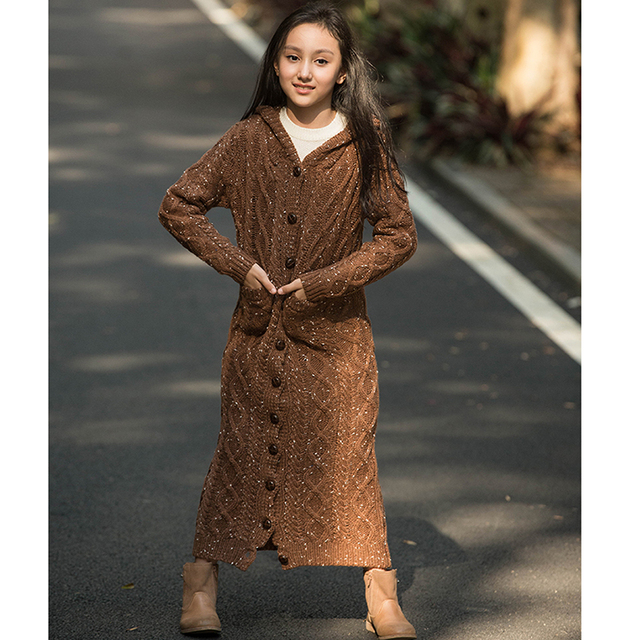 Women's Thick Over the Knee Long Style Hooded Cardigan Sweater 2020 Spring Button Cardigan Sweater Cozy warm Cardigan Sweater 8