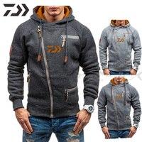 Daiwa pesca jacke inverno dos homens com capuz quente moletom casaco jaqueta outwear camisola topos masculino esporte roupas de pesca|Roupas de pesca| |  -