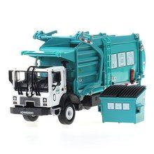 1:24 caminhão de lixo limpeza veículo modelo liga de materiais manipulação caminhão de lixo caminhões de saneamento carro limpo brinquedo para meninos kdw
