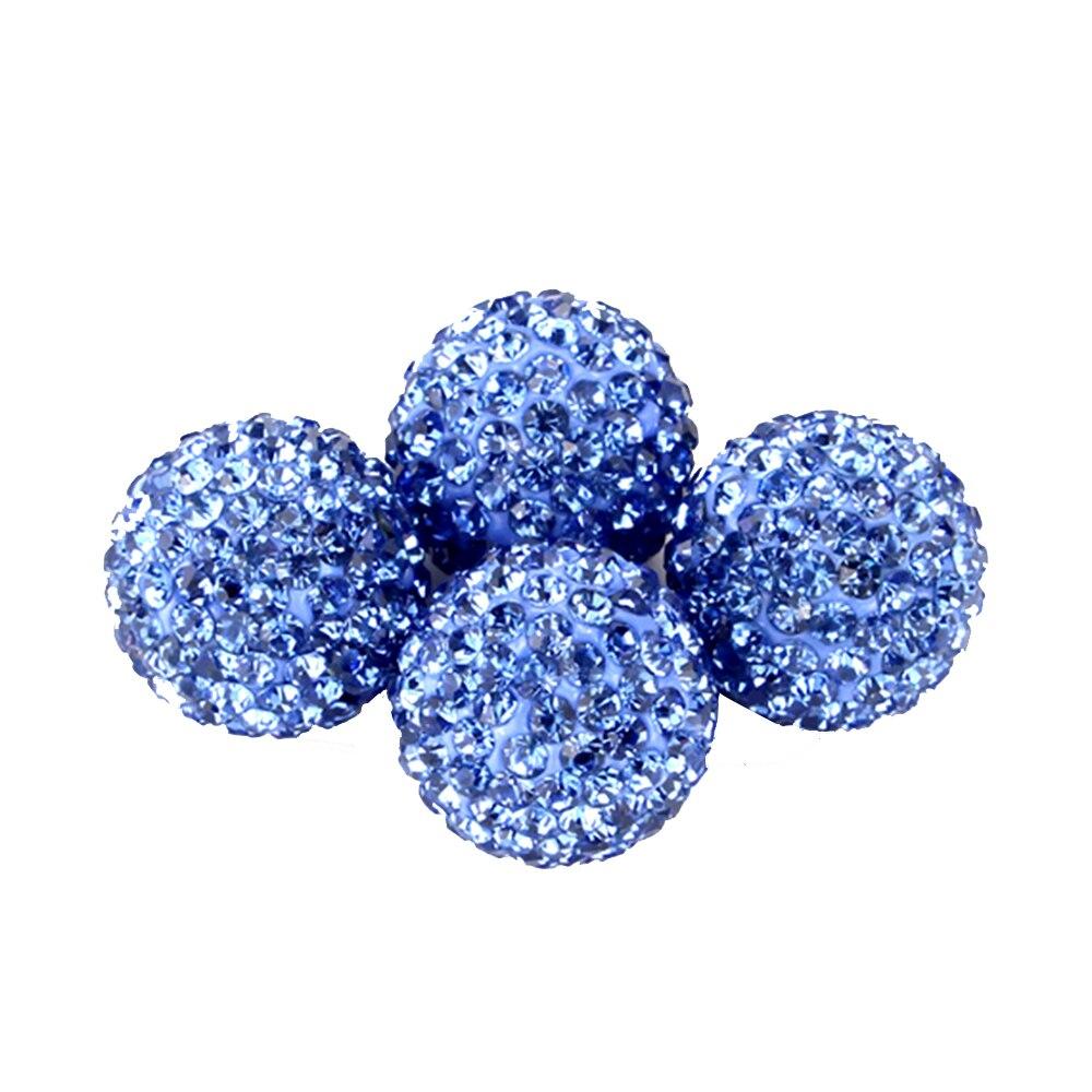 Новинка 4 шт Хрустальные шарики для автомобильных шин, колпачок для клапанов, стильный стержень для шин, воздушный колпачок для клапанов для шин, чехлы для автомобилей, женские автомобильные - Цвет: Blue