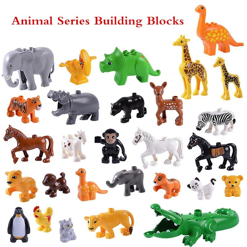 Animal Series kids toys Model Figures Big Building Blocks Cratoon Animals Bricks Educational Toys for Children Gift Compatible