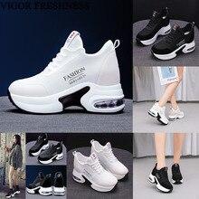 VIGOR/обувь свежести; летние женские кроссовки на каблуке 9 см; сетчатая обувь; осенние кроссовки, визуально увеличивающие рост; Весенняя женская обувь; WY531