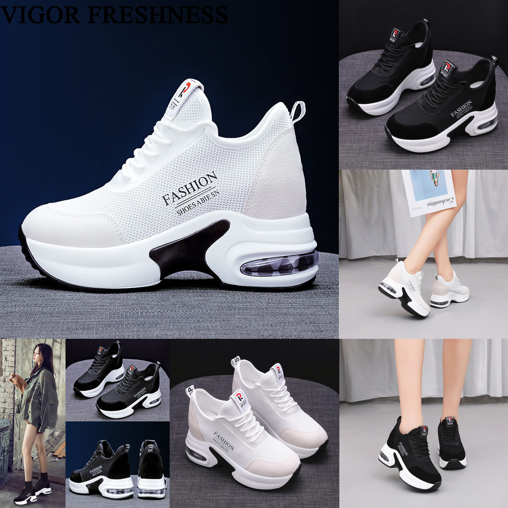 VIGOR FRESHNESS Shoes Summer Women Sneakers 9CM Heels Mesh Shoes Autumn Sneakers Height Increasing Spring Woman Shoes WY531