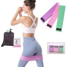 Bandas de resistência ajustadas treino elástico de borracha esporte booty band equipamentos de fitness para yoga ginásio treinamento tecido bandas elásticas