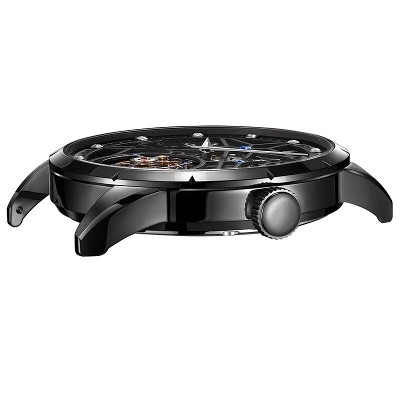 Super New Model GUANQIN Original Tourbillon business men watch top brand luxury Skeleton Sapphire  clock men Relogio Masculino 4