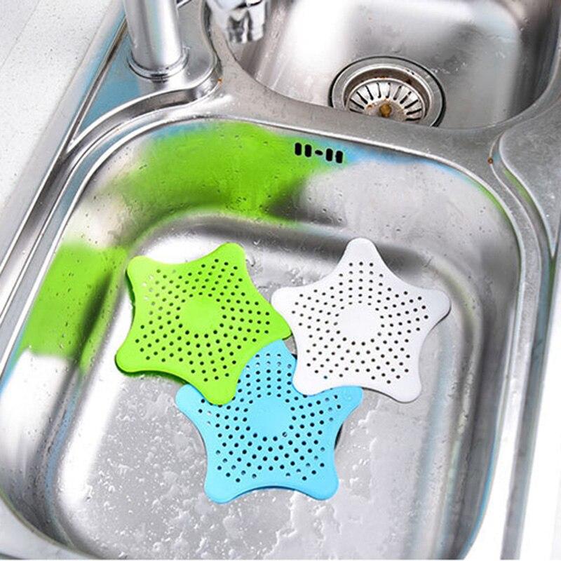 Силиконовый Фильтр в форме звезды для кухонной раковины, душевой фильтр для удаления волос, антизасоряющие полы и раковина, фильтр для кухни, аксессуары для ванной комнаты|Фиксаторы и заколки для волос|   | АлиЭкспресс