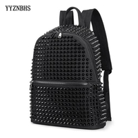 Women Luxury Backpack High Quality Rivet Canvas Backpack Ladies Travel Bagpack Mochila School Bags For Girls Back Pack Sac A Dos