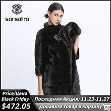 Abrigo de piel auténtica de visón para mujer, abrigos de invierno de visón Natural para mujer, chaqueta de piel de visón genuina, chaqueta de mujer grande desmontable largo negro