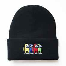 Hat Among Us Black Adult Kids Unisex for Hip-Hop-Hat Cap Beanie Embroidery Knitted Winter
