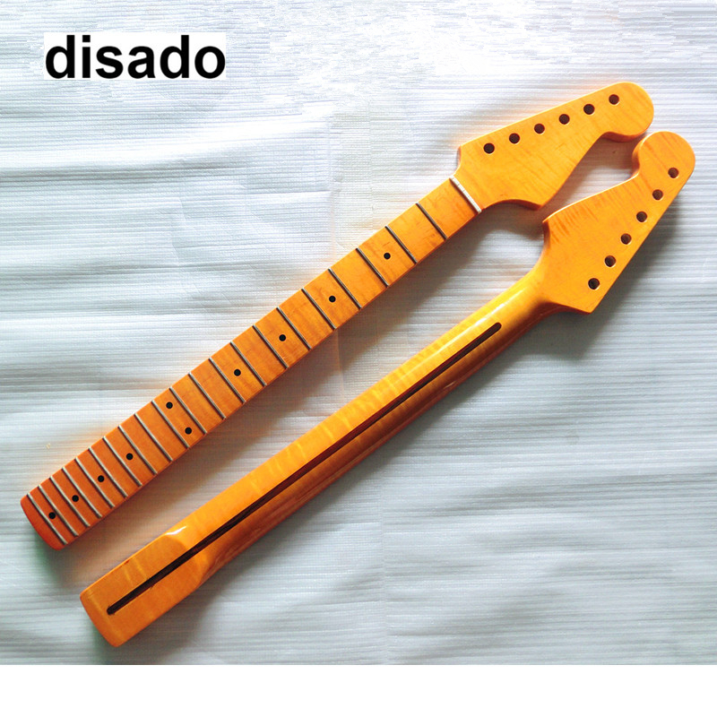 disado 21 Frets Tiger flame maple Electric Guitar Neck maple fretboard Wholesale Guitar Parts musical instruments accessories