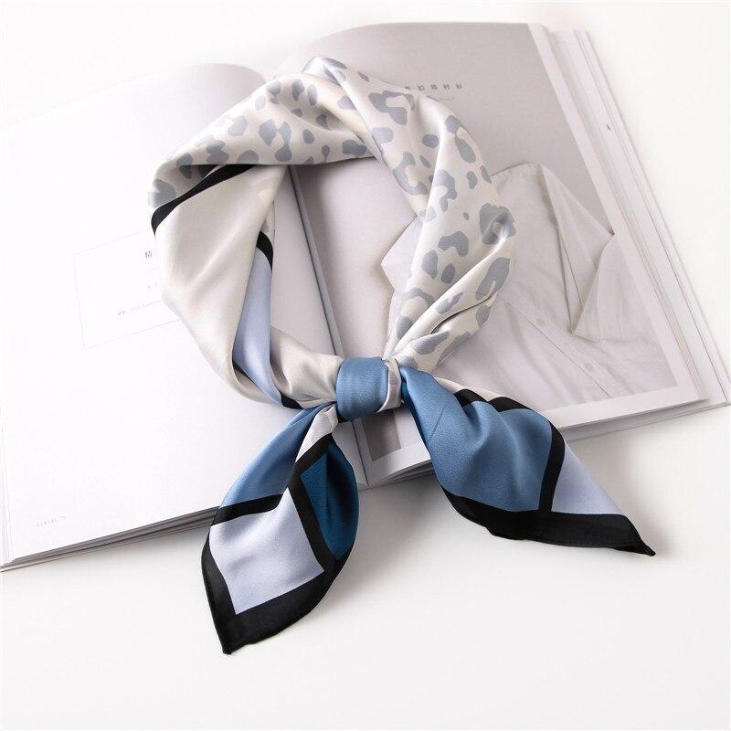 Women Square Silk Scarf Print Foulard Female Stylish Silky Small Bandana Neckwear [3908]