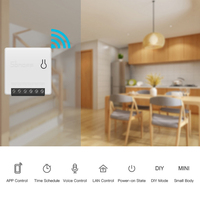 Sonoff Mini Smart Home For Alexa Google Home Mini DIY WiFi Automation Smart House Switch Switch Remote Control 2019 domotica|Home Automation Modules| |  -
