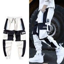 Hip Hop Multi-tasche Cargo Hosen Mnner Patchwork Streetwear Herren Harem Hosssig Track Jogger Mnlichen Harajuku techwear Hosen