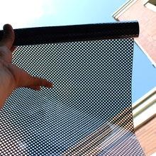 Self-adhesive glass film with reticulated glass sticker black shade window sticker, opaque sticker, black mesh car window film