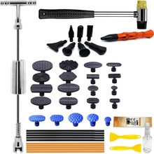 Car Body Dent Repair Tool Kit with Sliding Hammer T-Shaped Bar Tooth Puller Suitable for Car Body Repair
