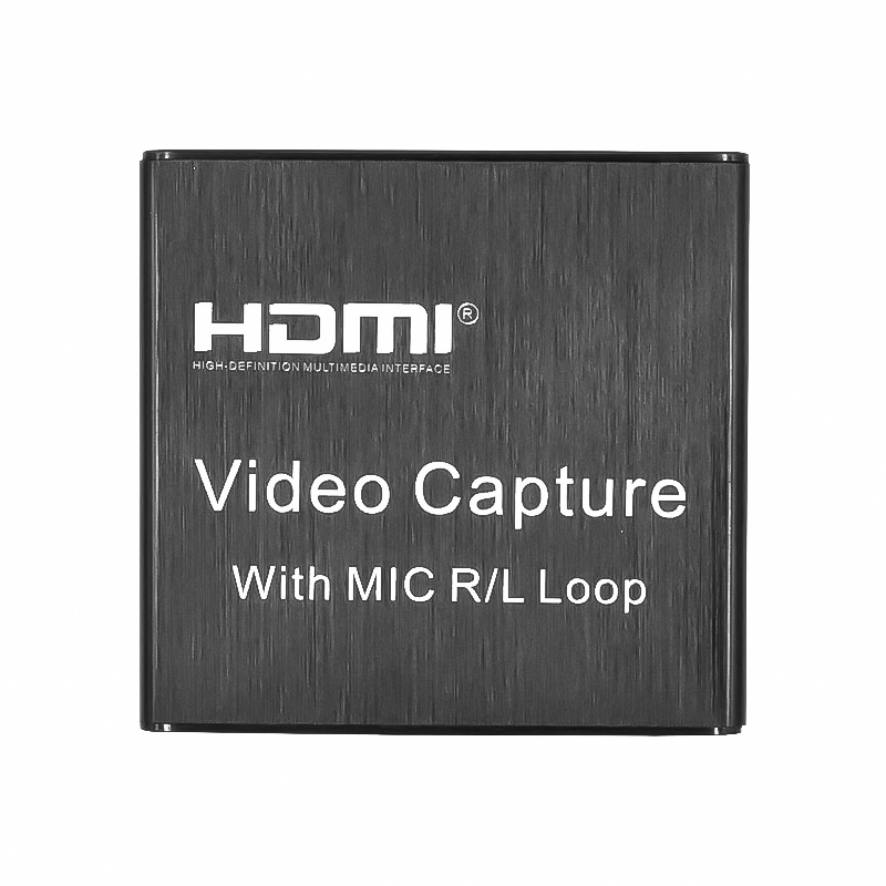 Audio Video Capture Card HDMI Video Capture Card HD 4K 1080P 30fps Loop Out USB 2.0