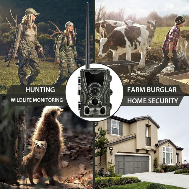 Suntek 4G Hunting Trail Cam FTP SMTP MMS 20MP 1080P HC-801LTE Wireless Cellular Wildlife Cameras  0.3s Triggger time Hunting Cam
