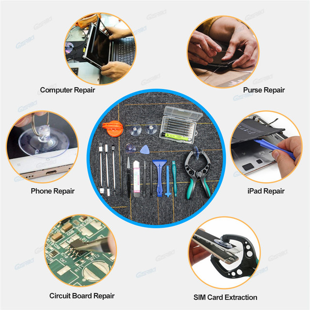 GZERMA Smartphones Repair Tool Sets Mobile Phone Repair Tools 23 IN 1 With Screwdriver Kit For Iphone Cellphone Cell Phones 6