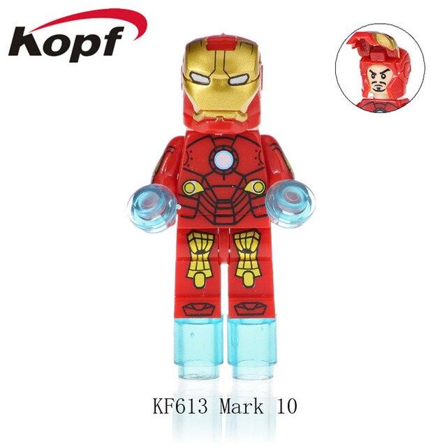 Super Heroes Nightrunner Mark 11 Dead-man Spider-man Building Blocks Model Action Toys For Children KF614Model Building