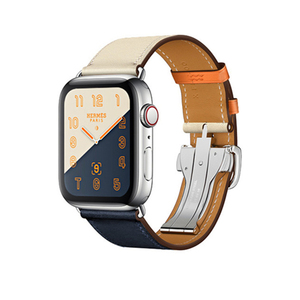 Image 5 - For Apple Watch 6 Band Strap 5 4 3 2 1 44mm 40mm 42mm 38mm Genuine Leather with Herm Logo Bracelet for iWatch Bands Accessories