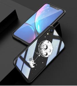 Image 2 - Чехол из закаленного стекла для iPhone X XR xs max, 6d взрывозащищенный прозрачный стеклянный чехол с рисунком для девушек, стеклянный чехол для iphone xr xs max