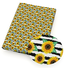 Sunflower-Print Patchwork 100%Cotton-Fabric for Garment-Tissue-Material Puppet Cloth-Making