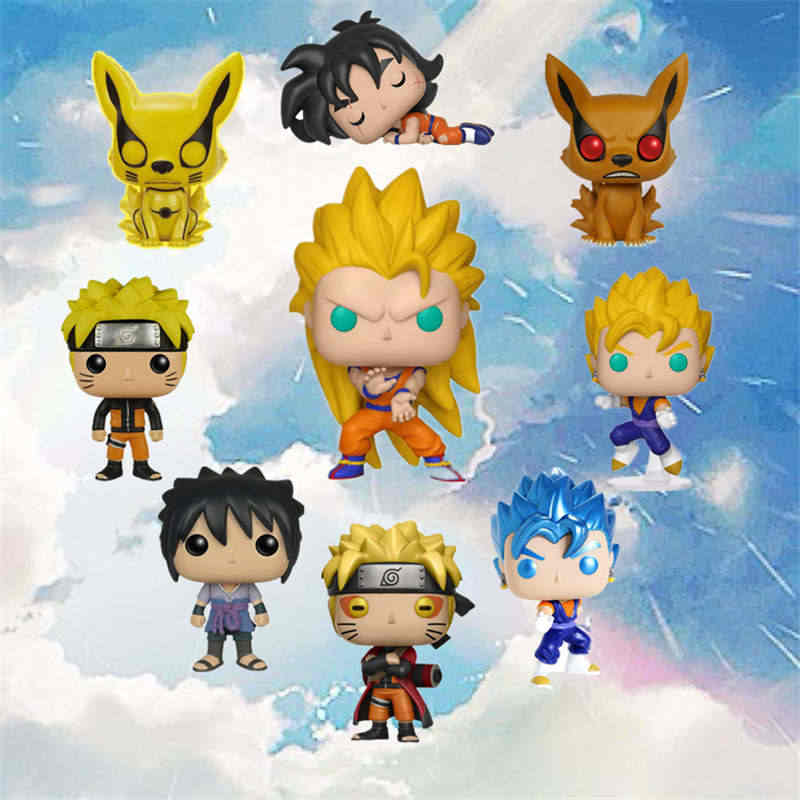 Funko Pop Amina Dragon Ball NARUTO (Sage Mode) KURAMA SASUKE GRANDE VEGETA SUPER SAIYAN GOKU Action Figure Collectible Modelo de Vinil