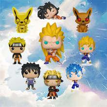 Funko Pop Amine Dragon Ball NARUTO(Sage Mode) KURAMA SUPER SAIYAN GOKU GREAT VEGETA SASUKEรูปไวนิลสะสมรุ่น