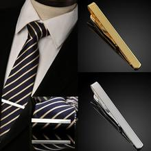 New Men Metal Silver Gold Simple Necktie Tie Bar Clasp Clip Clamp Pin Men Stainless Steel For Business Ma Necktie Tie Clasps lepton brand men skinny tie clip pins short silver color men metal necktie tie bar chrome clamp stainless steel plain tie clip